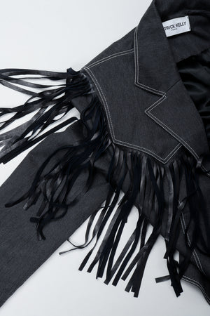 Vintage Patrick Kelly Denim Yoke Fringe Detail