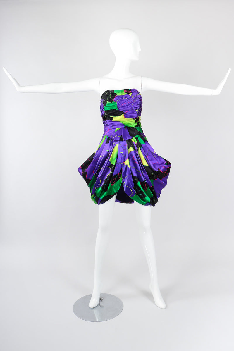 Recess Los Angeles Vintage Paul Louis Orrier Hot Tropical Print Tulip Dress