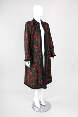 Recess Los Angeles Vintage Pauline Trigere Rose Garden Duster Coat Robe