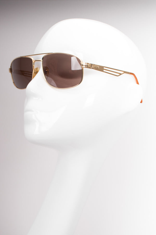 Persol Supreme Arrow Vintage Gold Pilot Sunglasses