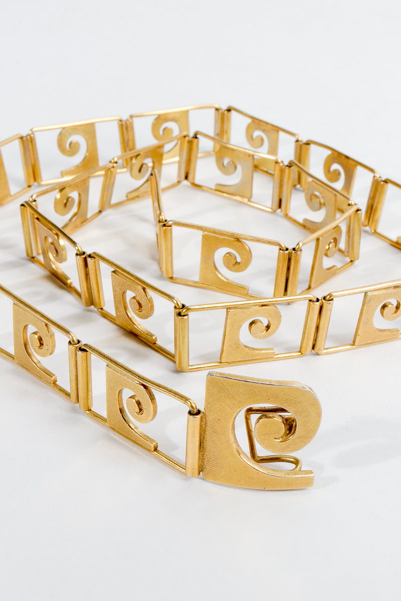 Vintage Pierre Cardin Monogram P Link Chain Belt at Recess Los Angeles
