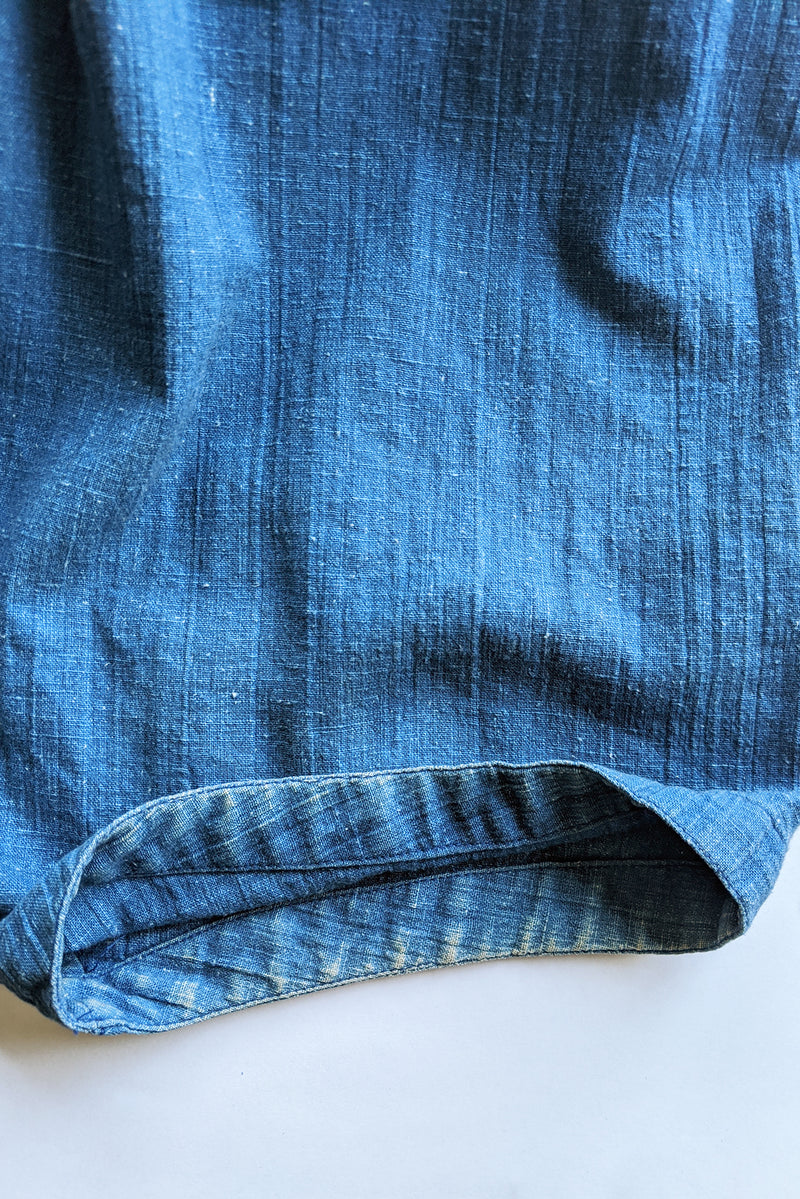Vintage Issey Miyake Plantation Chambray Denim Harem Crop Pant wear @ leg hem at Recess LA