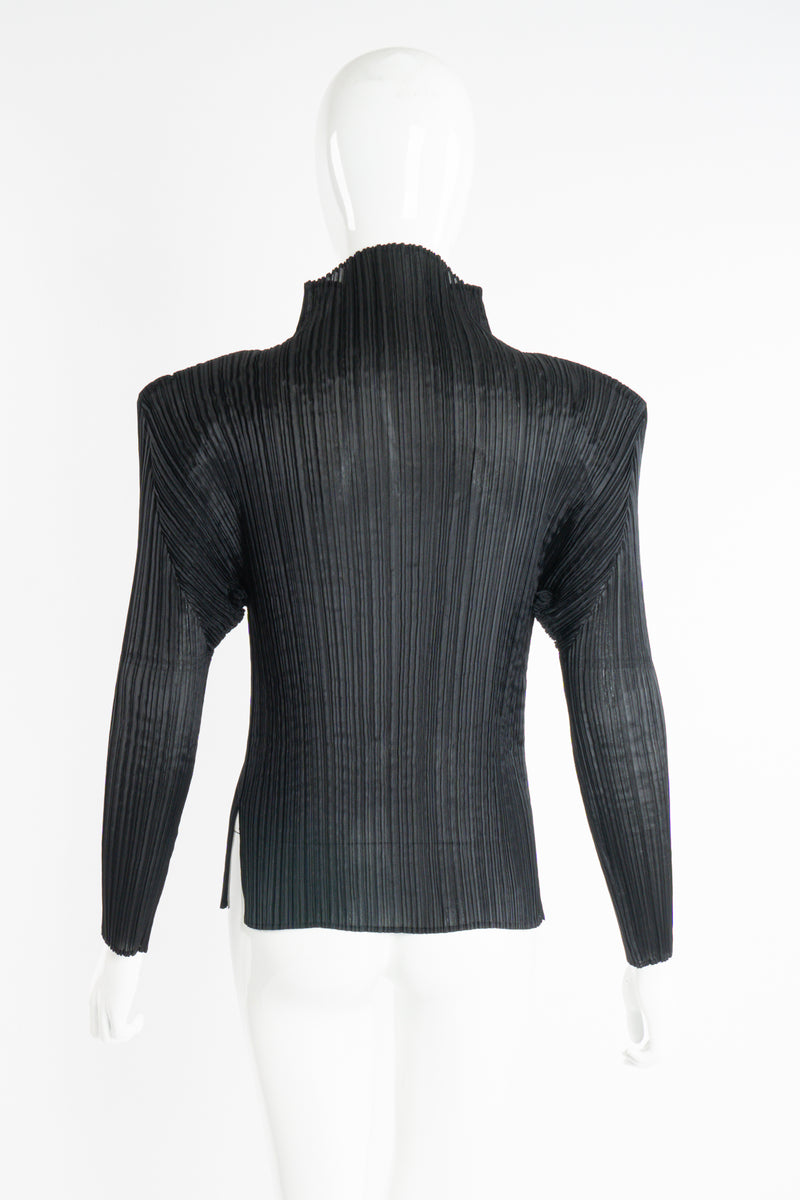 Vintage Issey Miyake Pleats Please Sheer Pleated Mockneck Top on Mannequin back at Recess LA