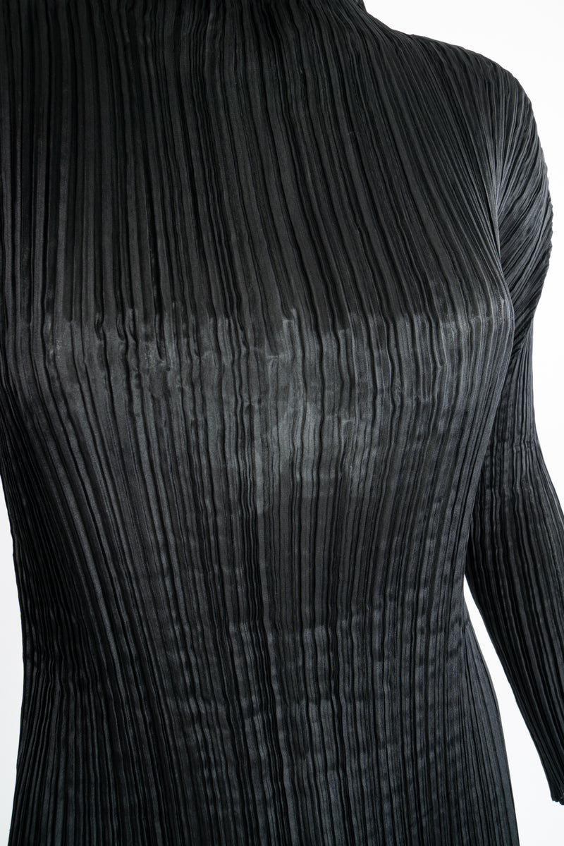 Vintage Issey Miyake Pleats Please Sheer Pleated Mockneck Top on Mannequin fabric at Recess LA