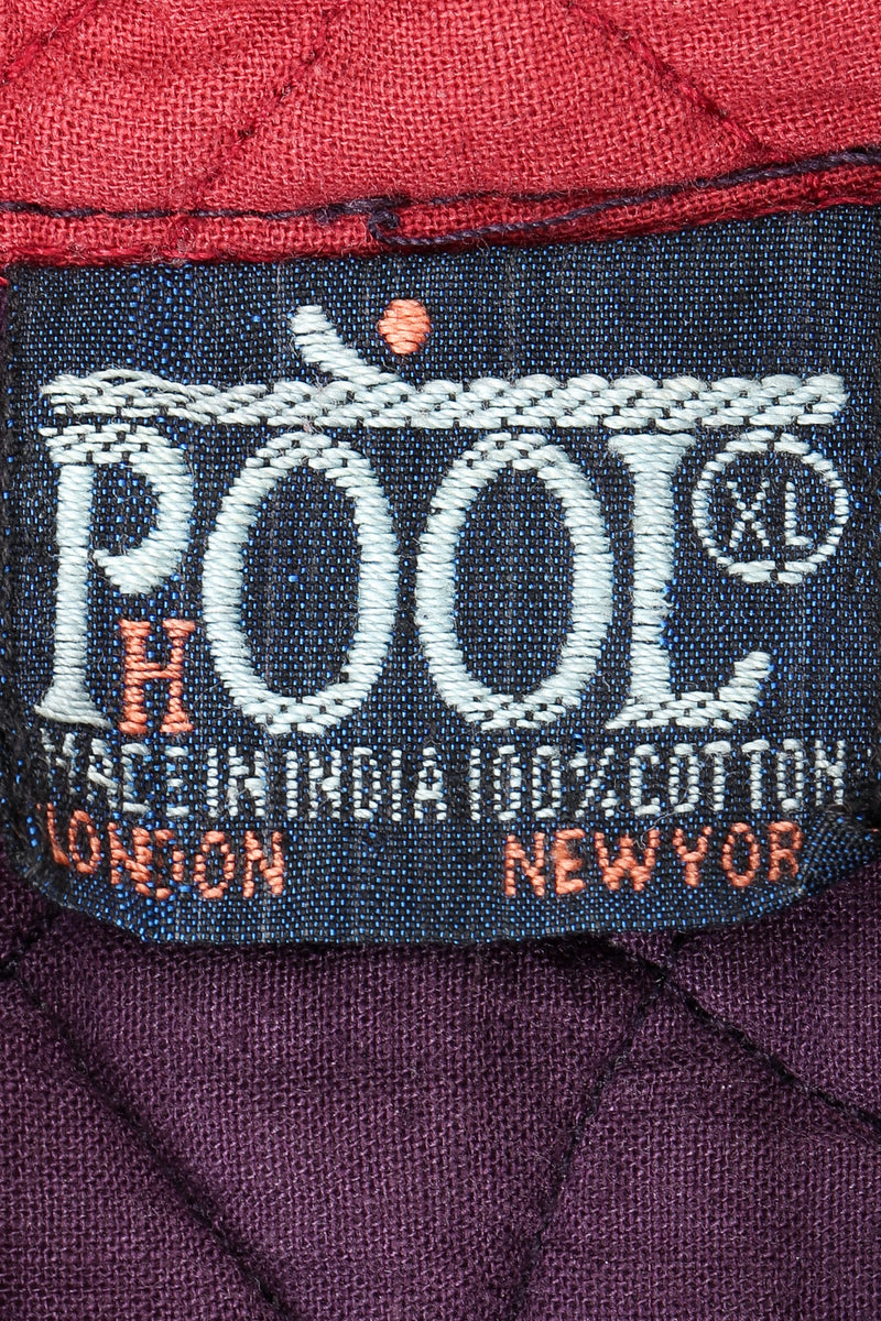 Vintage Pool India Cotton Gauze Quilted Yoke Dress label