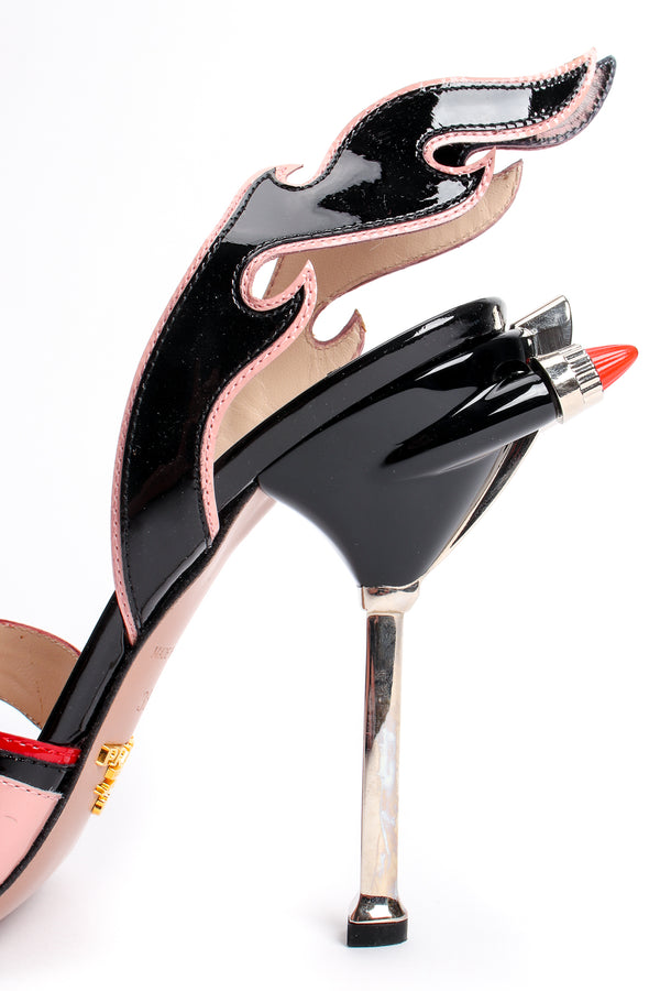 Vintage Prada SS 2012 Jeweled Patent Leather Tail Light Flame Sandal at Recess Los Angeles