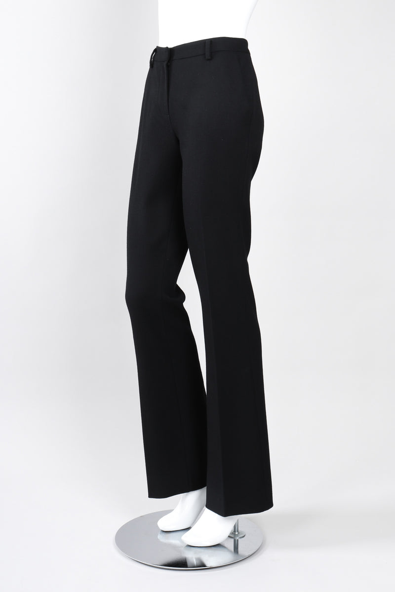 Recess Los Angeles Vintage Prada Straight Leg Wool Gabardine Trouser Pant