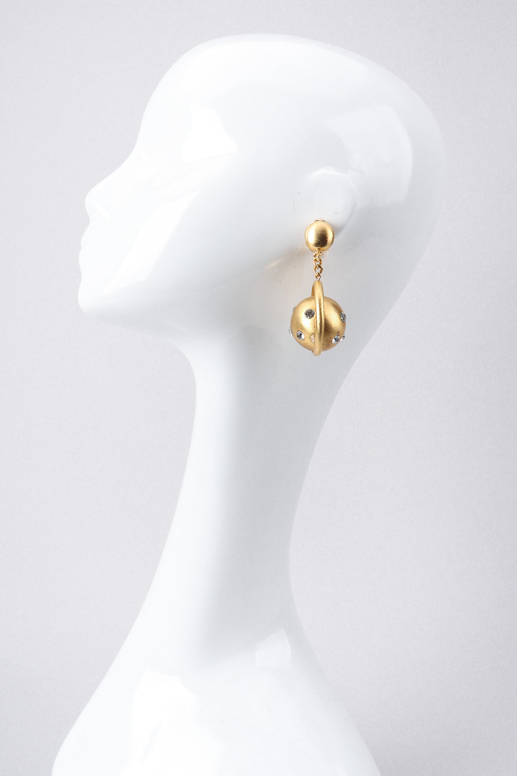 Recess Los Angeles Vintage Prince Kamy Yar Brushed Saturn Hoop Earrings