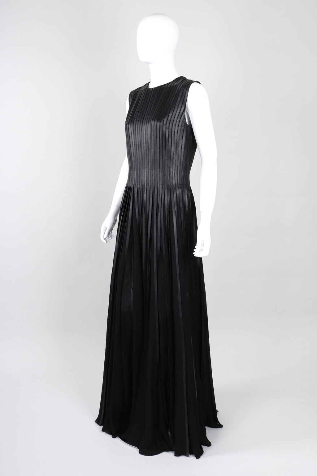 Recess Los Angeles Vintage Ralph Lauren Collection A/W 2013 Runway Pleated Leather Strip Gown
