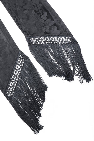 Recess Los Angeles Vintage Ralph Lauren Silk Piano Shawl Fringe Wrap Skirt