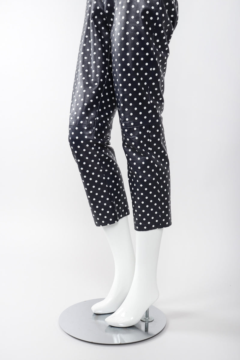 Recess Los Angeles Vintage Ralph Lauren Purple Label Leather Polka Dot Capri Pant