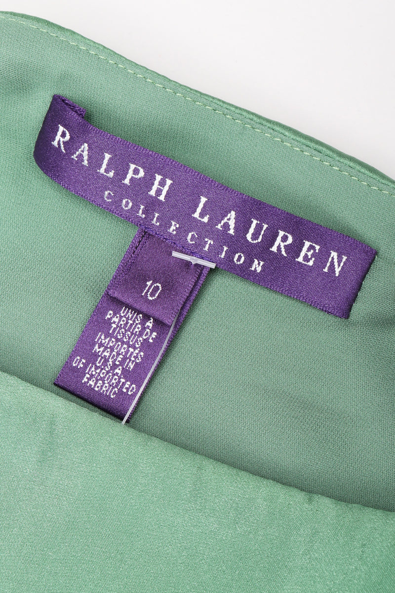 Recess Los Angeles Vintage Ralph Laurent Purple Label One-Shoulder Draped Silk Gown