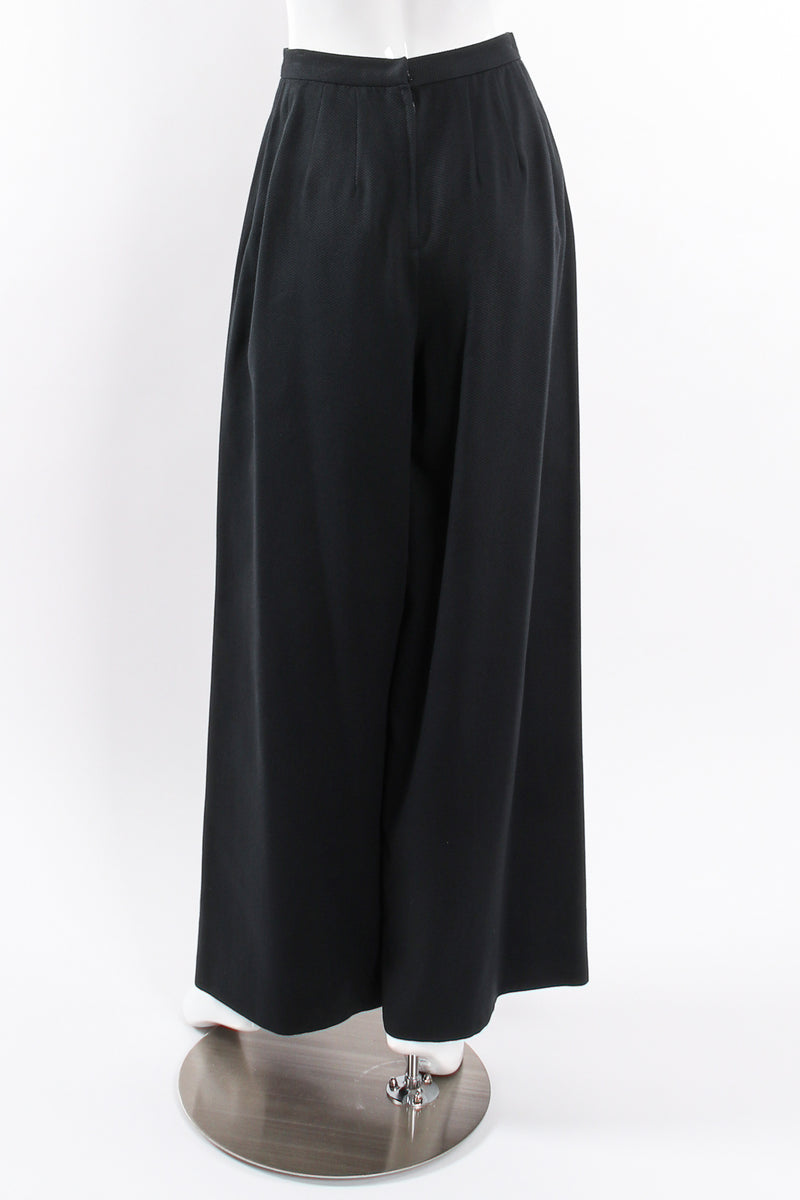 Vintage Raul Blanco Evenings Puff Sleeve Jacket & Pant on mannequin pant back @ Recess LA