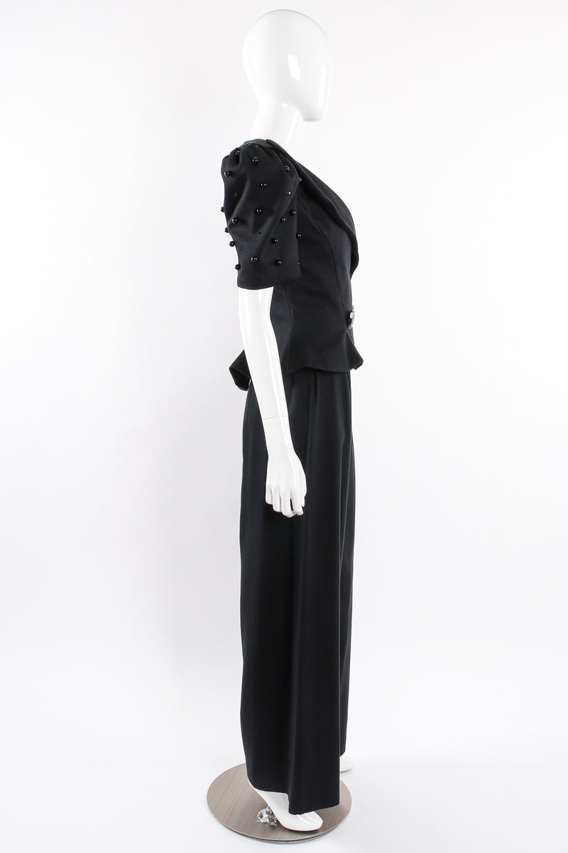 Vintage Raul Blanco Evenings Puff Sleeve Jacket & Pant Set on Mannequin side @ Recess LA