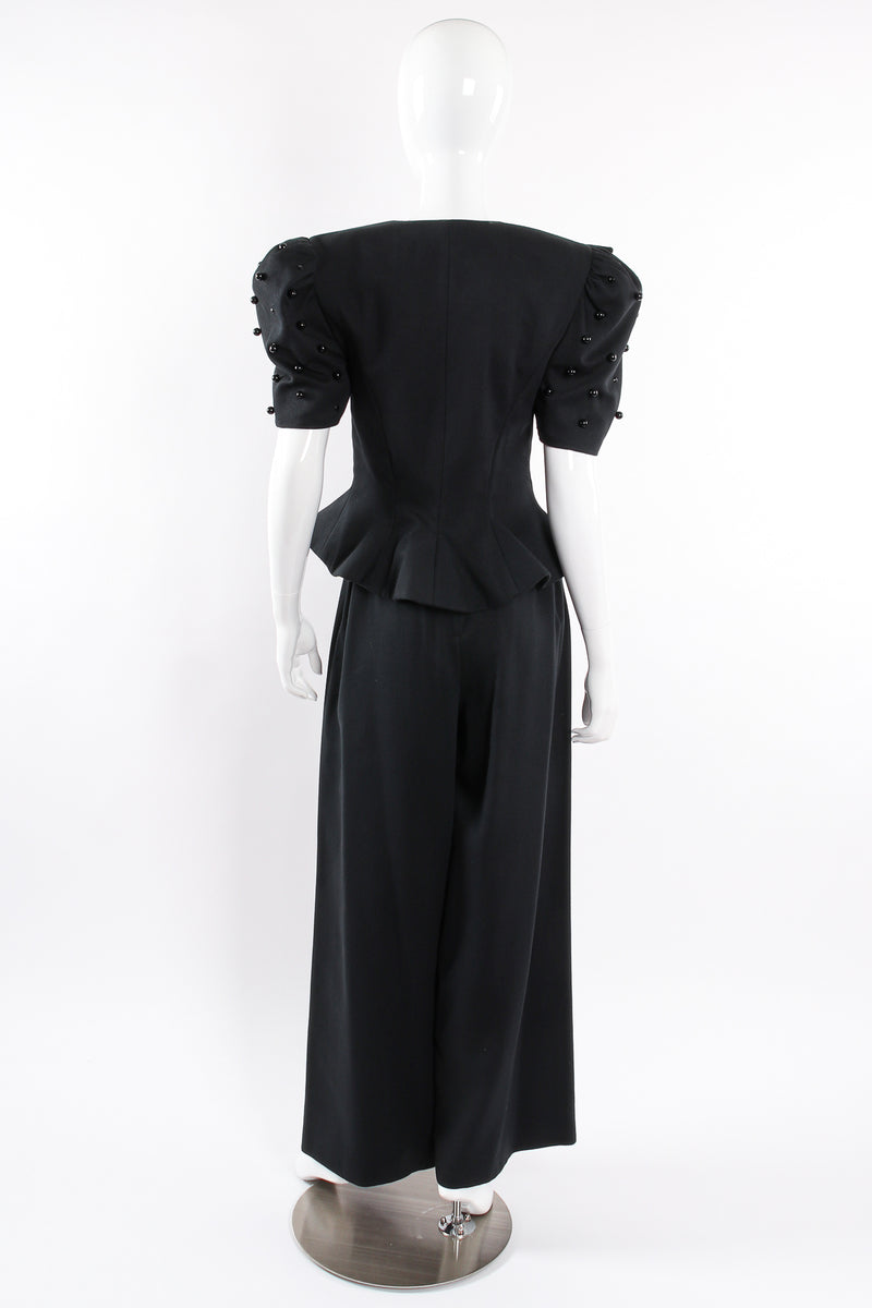 Vintage Raul Blanco Evenings Puff Sleeve Jacket & Pant Set on Mannequin back @ Recess LA
