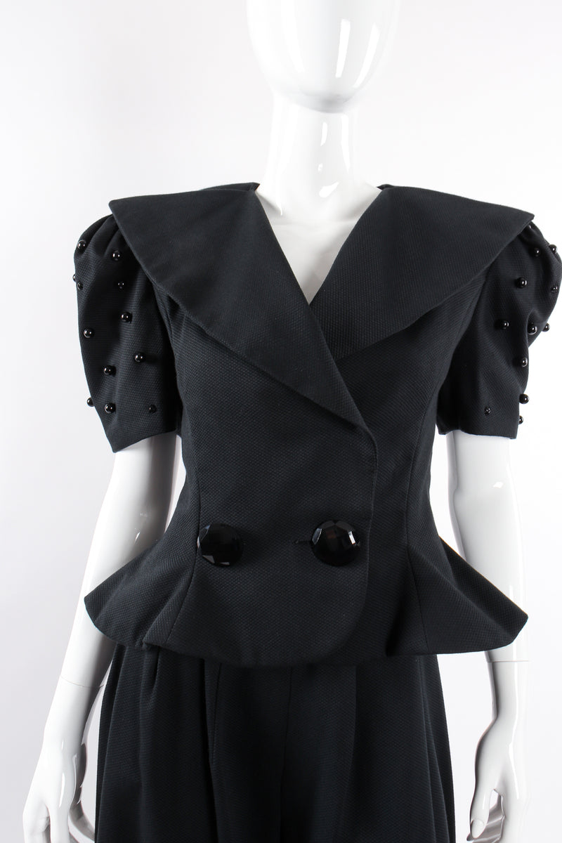 Vintage Raul Blanco Evenings Puff Sleeve Jacket & Pant Set on Mannequin front crop @ Recess LA