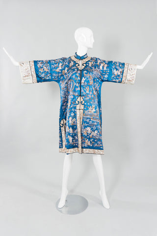 Chinese Metal Embroidered Village Robe