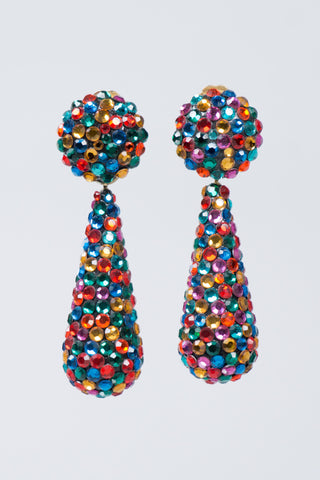 Richard Kerr Vintage Crystal Rainbow Drop Earrings