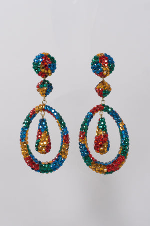 Richard Kerr Crystal Jupiter Drop Earrings