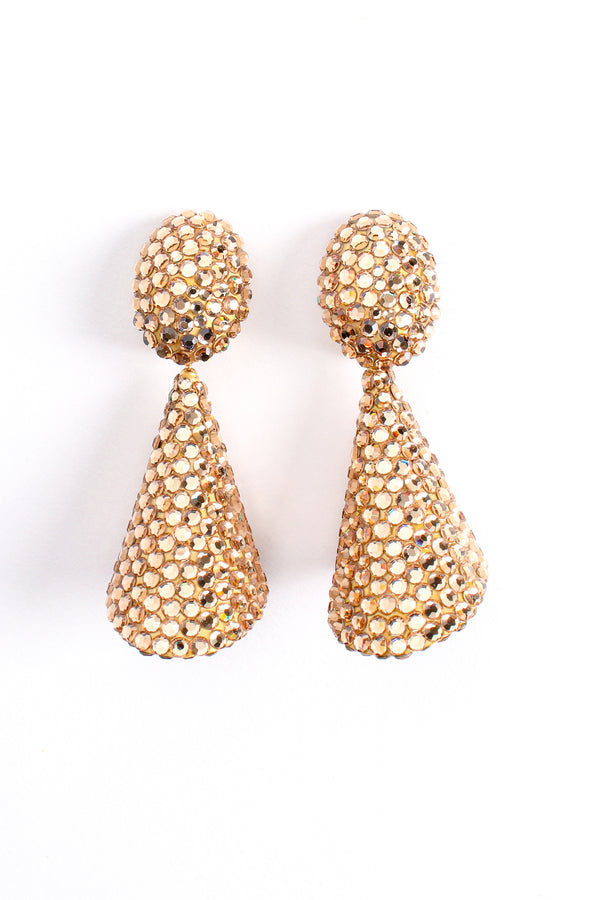 Vintage Richard Kerr Champagne Rhinestone Cone Earrings at Recess Los Angeles