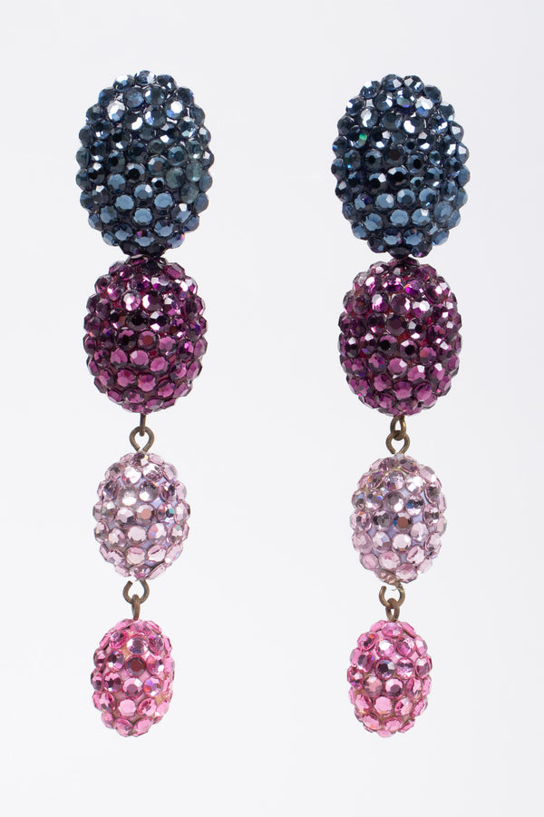 Recess Los Angeles Vintage Richard Kerr Crystal Jelly Bean Egg Drop Earrings