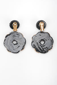 Recess Designer Consignment Vintage Richard Kerr Two Tone Samoa Cookie Swirl Earrings Los Angeles Resale Recycled