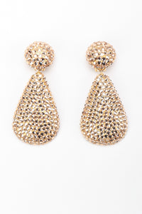 Recess Los Angeles Vintage Richard Kerr Crystal Champagne Fat Teardrop Earrings