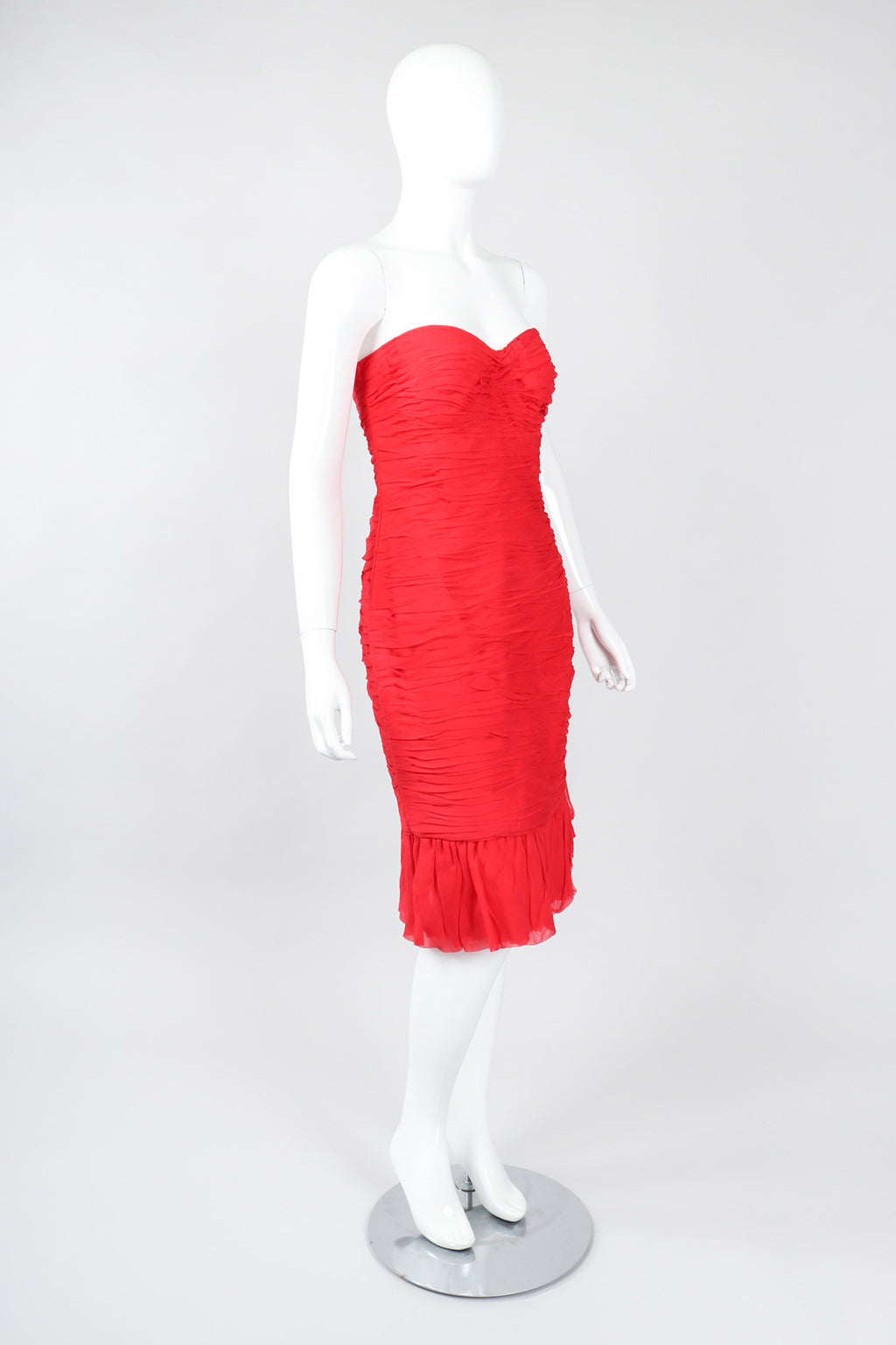 Recess Los Angeles Vintage Richilene Ruched Sweetheart Strapless Dress