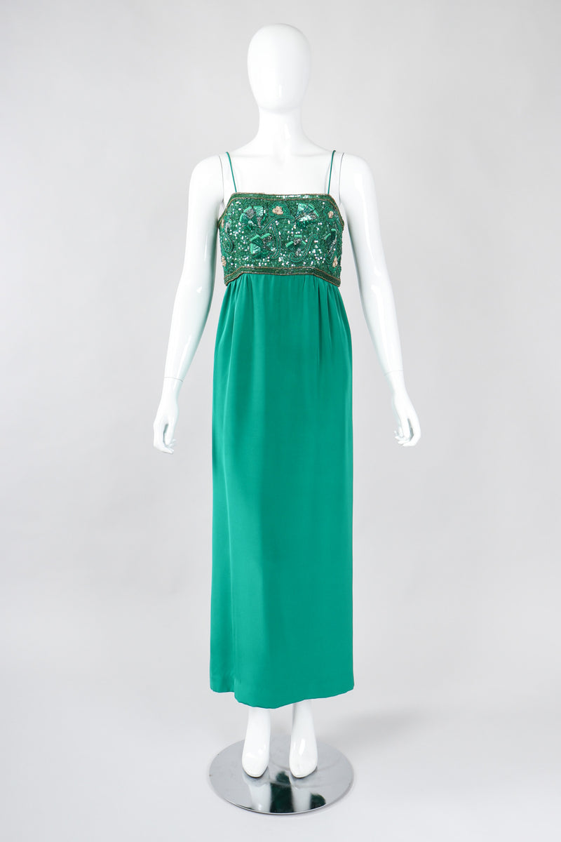 Recess Los Angeles Vintage Richilene Lucky Charm Sequined Empire Waist Sheath Dress