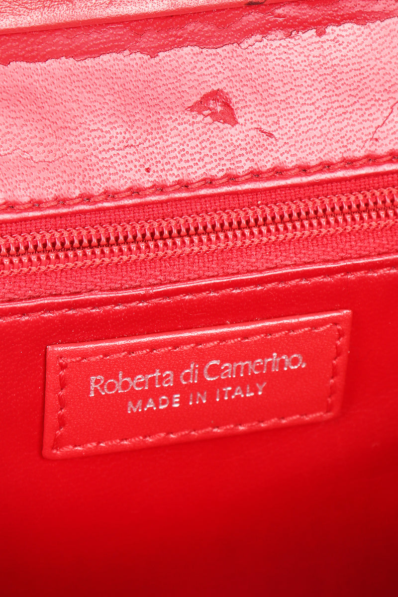 Recess Designer Consignment Vintage Roberta Di Camerino Velvet Striped Slim Frame Bag Los Angeles Resale