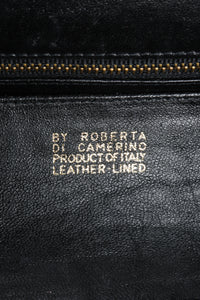 Vintage Roberta di Camerino Navy Stripe Velvet Frame Handbag Signature Stamp at Recess Los Angeles