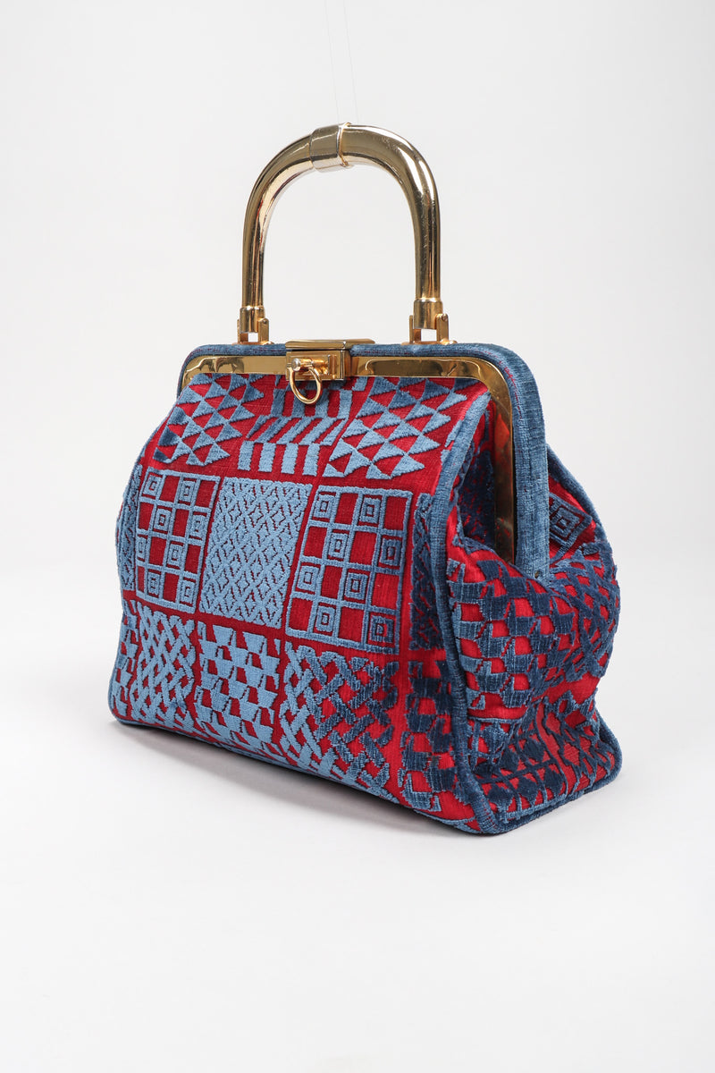 Recess Los Angeles Vintage Roberta di Camerino Patterned Velvet Bagonghi Bag