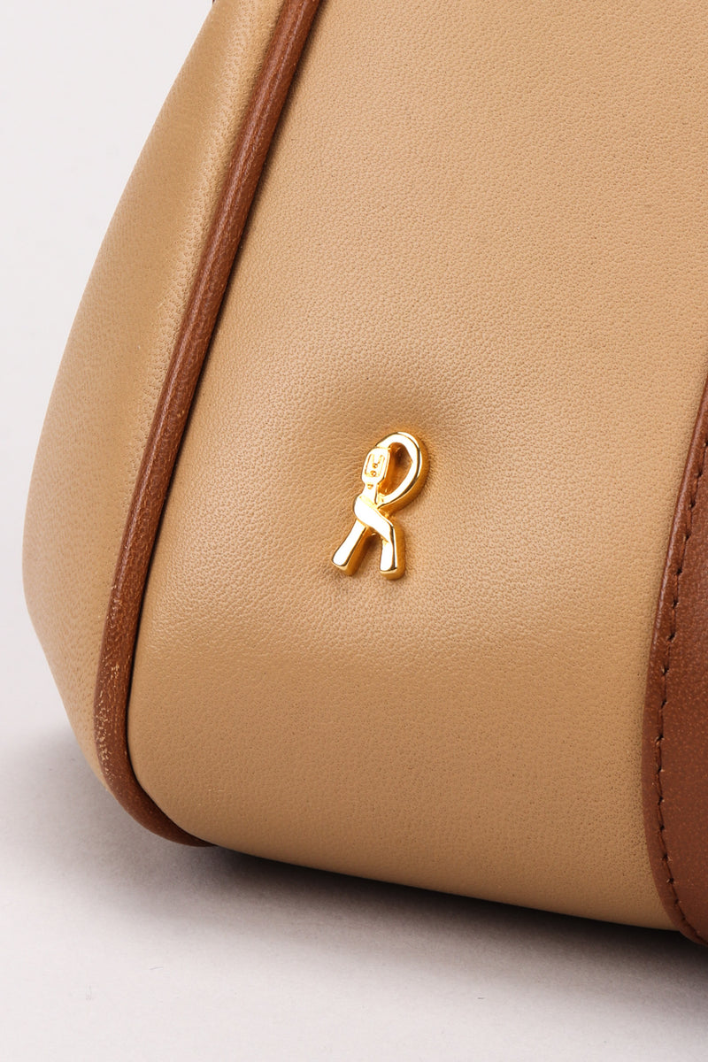Recess Los Angeles Vintage Roberta Di Camerino Signature Leather & Velvet Mini Bagonghi Bag