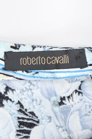 Recess Designer Consignment Vintage Roberto Cavalli Floral Silk Tiered Hi Low Ruffle Skirt Los Angeles Resale