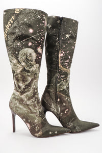 Recess Los Angeles Vintage Roberto Cavalli Celestial Constellation Point Stiletto Boots