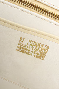 Vintage Roberta di Camerino Leather Folio Case with gold signature stamp at Recess Los Angeles