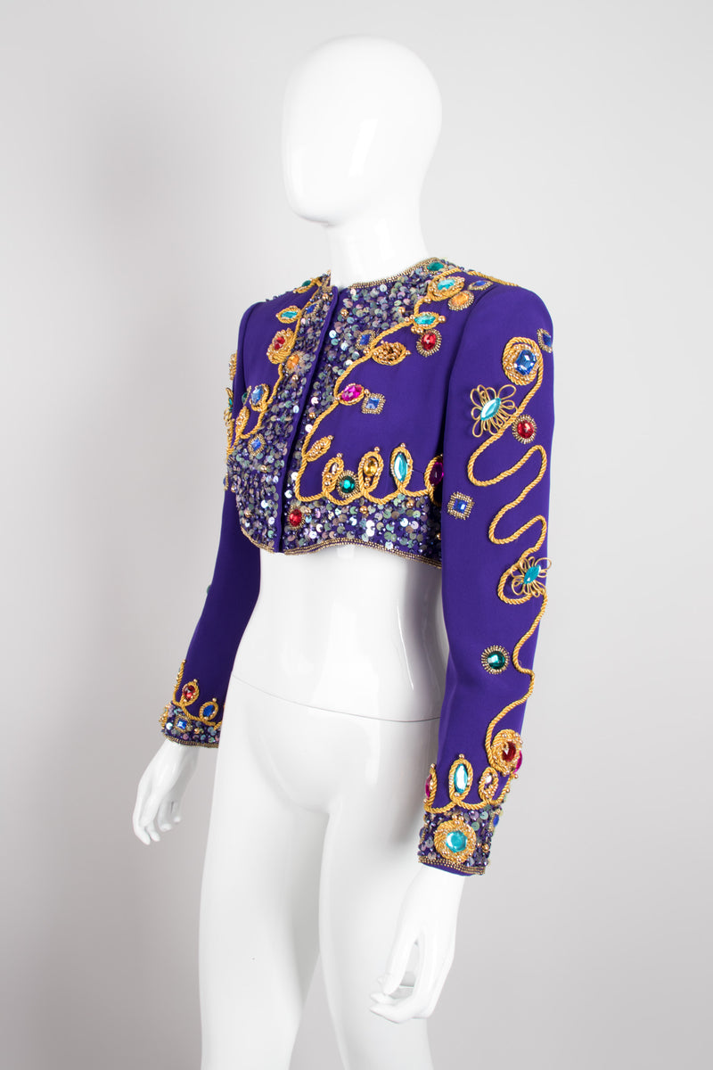 Victoria Royal Embellished Crop Jacket & Dress Set