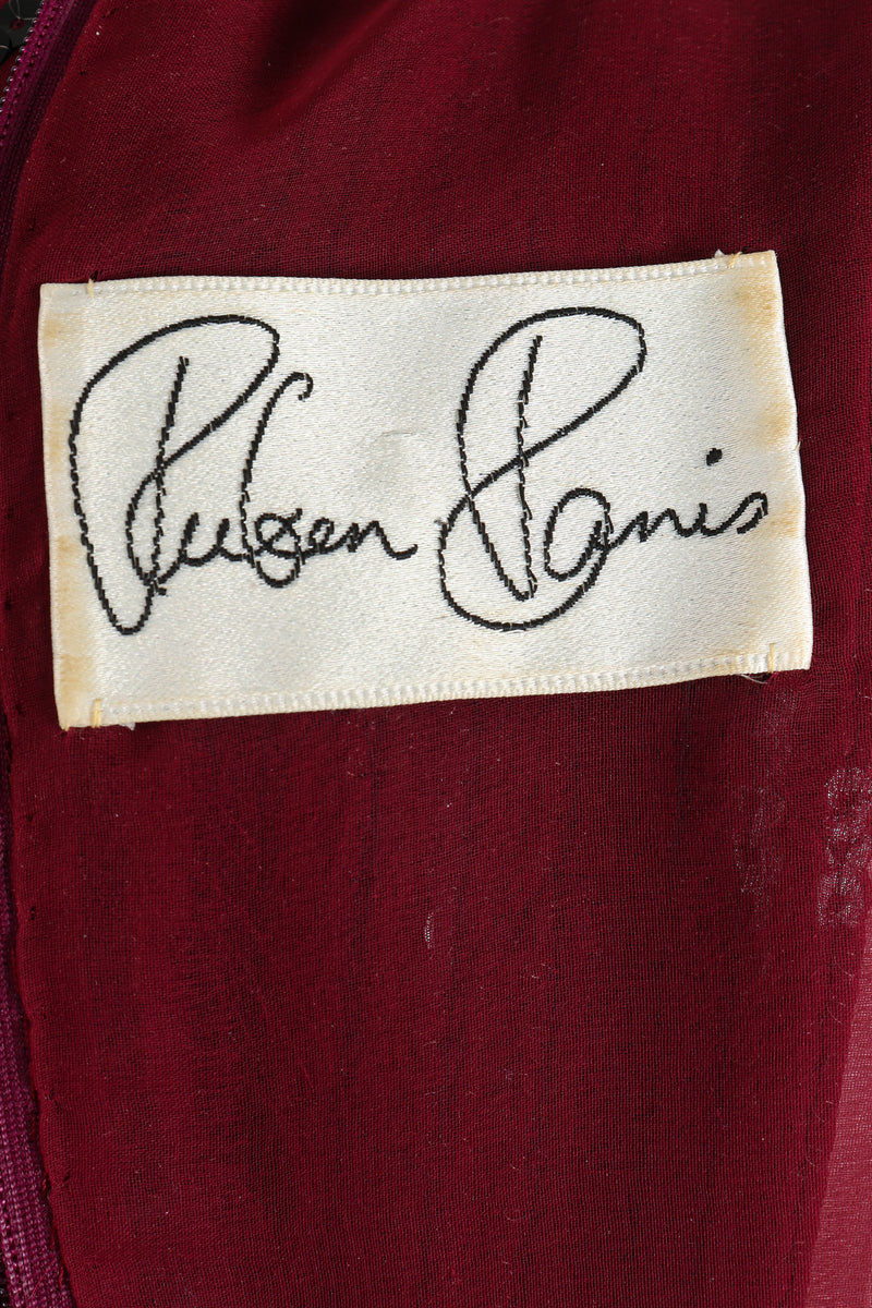 Vintage Ruben Panis Sheer Sequin Stripe Sheath Dress label at Recess Los Angeles