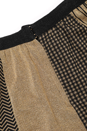 Recess Los Angeles Vintage Collectable Rudi Gernreich Gold Metallic Lamé Pieced Knit Skirt