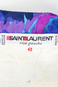 Vintage YSL Yves Saint Laurent Impressionist Wrap Dress Label at Recess