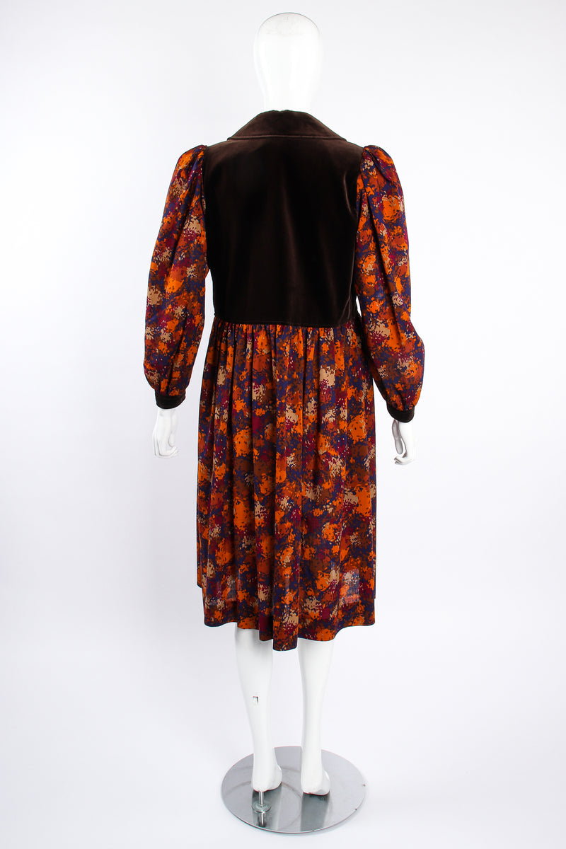 Vintage YSL Yves Saint Laurent Velvet Bodice Folk Dress Russian on Mannequin back at Recess LA