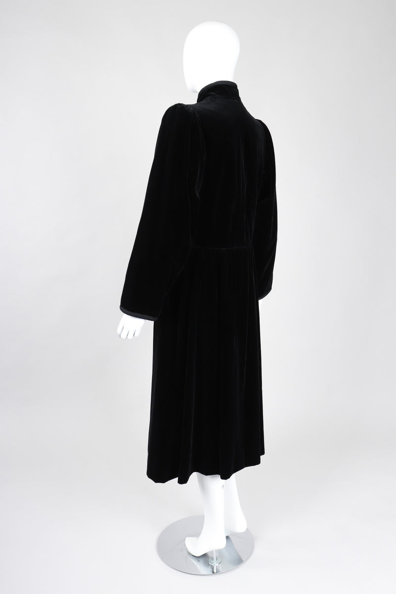 Recess Los Angeles Vintage YSL Yves Saint Laurent Long Velvet Russian Collection Cossack Coat Dress
