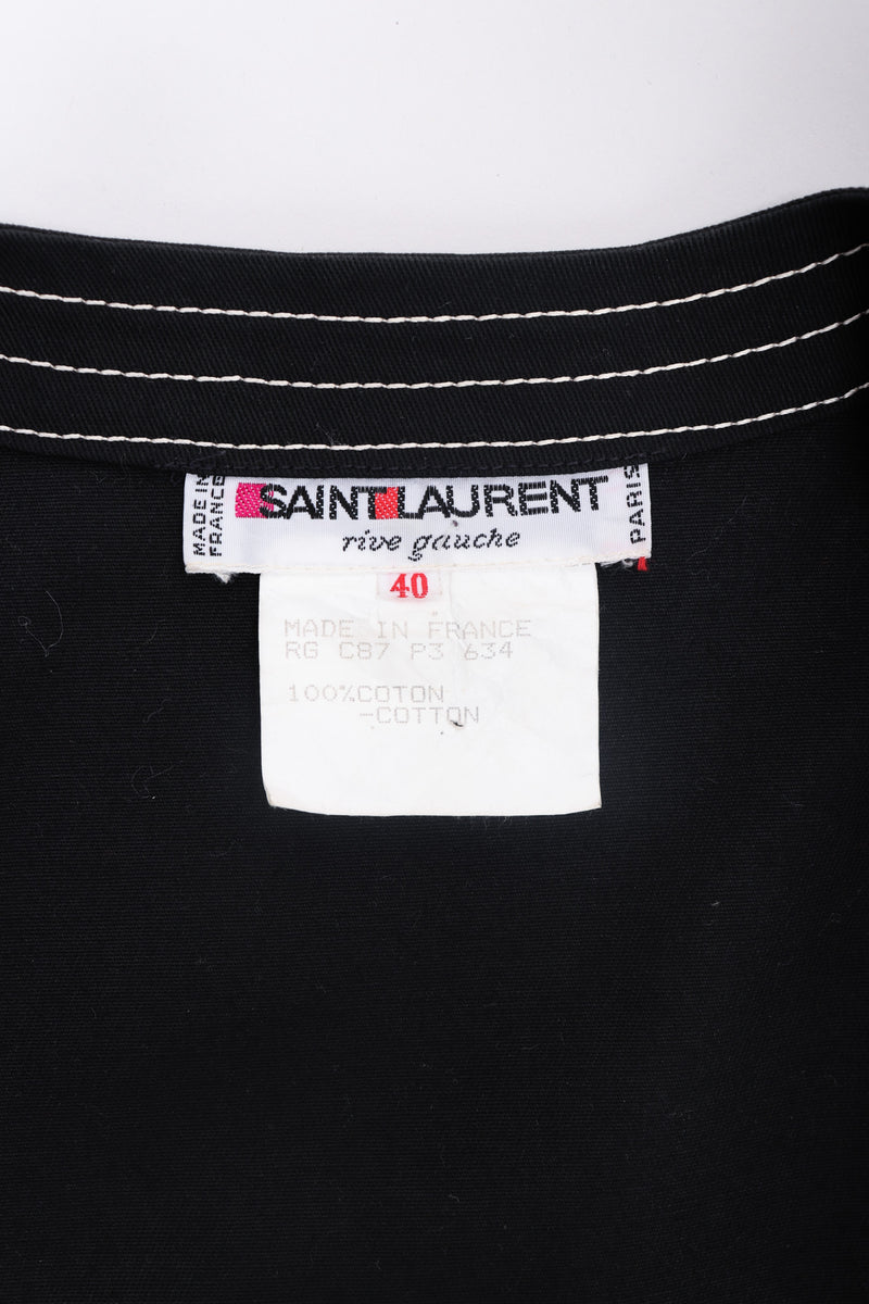 Recess Los Angeles Yves Saint Laurent YLS Topstitched Swing Coat