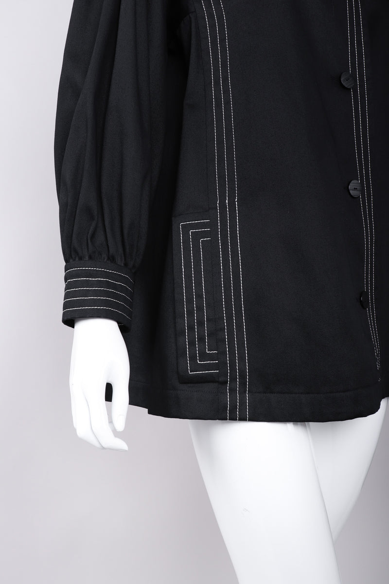 Recess Los Angeles Vintage Yves Saint Laurent YLS Topstitched Swing Coat