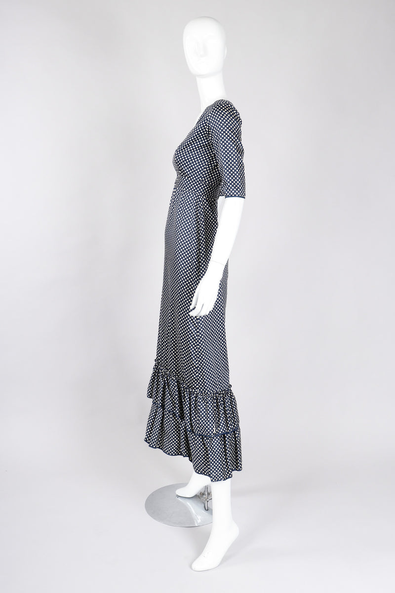 Recess Los Angeles Vintage YSL Yves Saint Laurent Ruffled Prairie Dot Dress