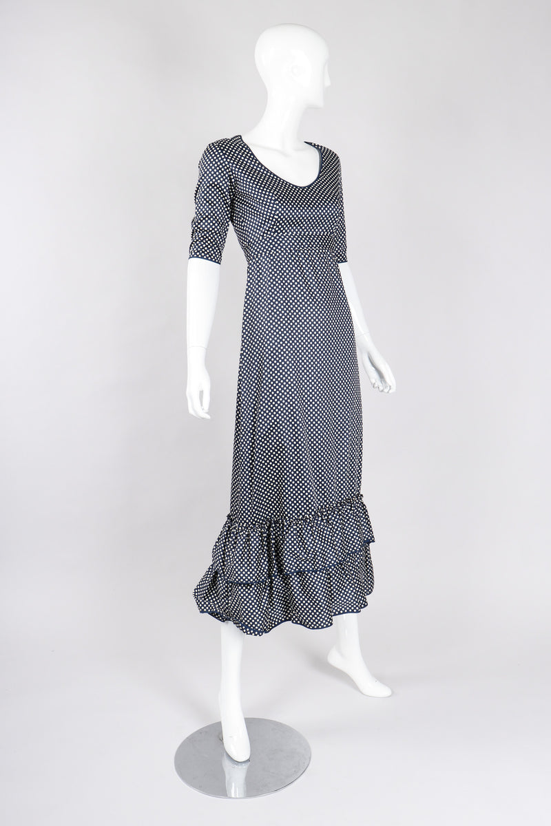Recess Los Angeles Vintage YSL Yves Saint Laurent Liberation Ruffled Prairie Dot Dress