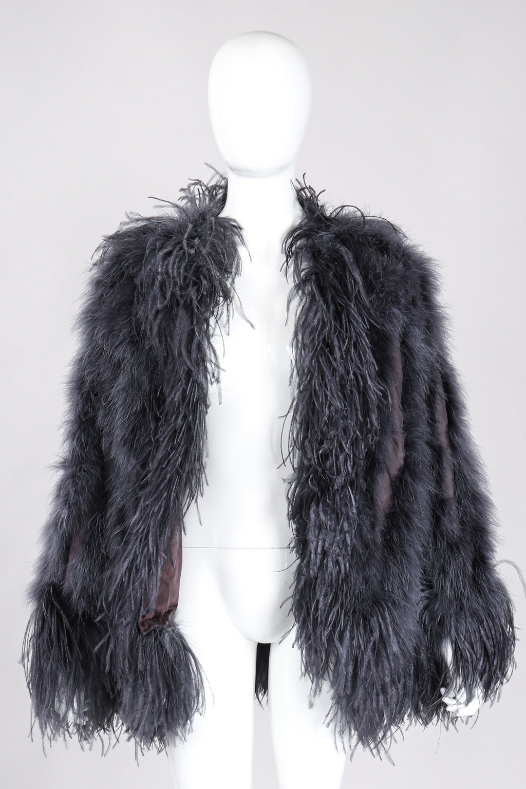 20fbf3e1d95 Recess Los Angeles Vintage YSL Yves Saint Laurent 70s Liberation Collection  Marabou & Ostrich Feather Glam