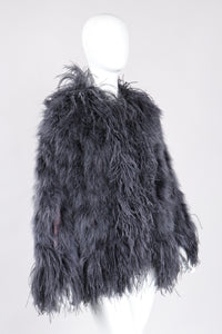 Recess Los Angeles Vintage YSL Yves Saint Laurent 70s Liberation Collection Marabou & Ostrich Feather Glam Rockstar Jacket