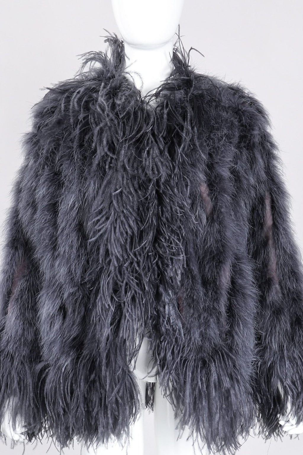 6b0fe8a32c2 Recess Los Angeles Vintage YSL Yves Saint Laurent 70s Liberation Collection  Marabou & Ostrich Feather Glam