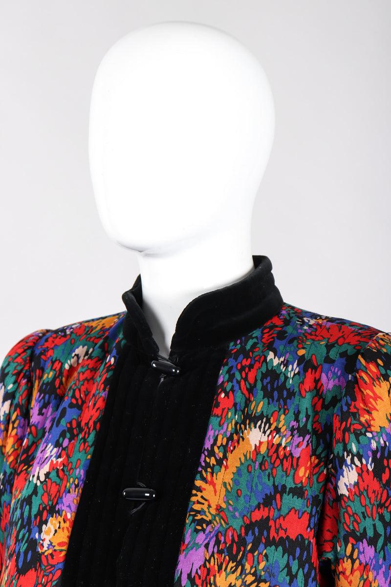 Recess Los Angeles Vintage YSL Yves Saint Laurent Quilted Rainbow Splatter Print Jacket